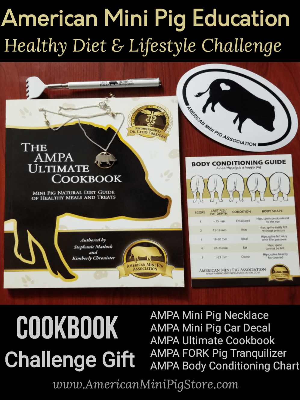 mini pig cookbook, healthy diet